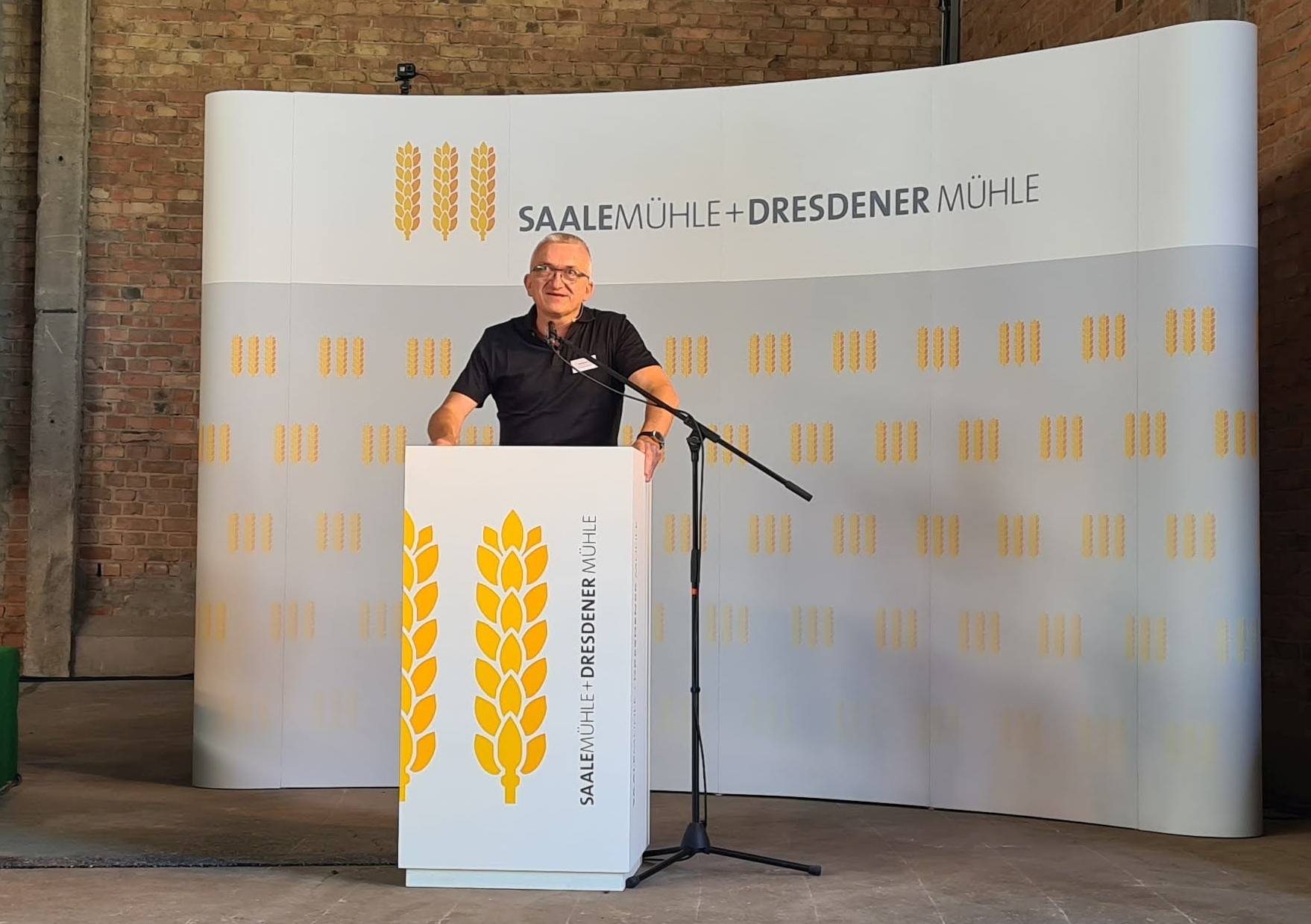 Michael Gutting, Geschäftsführer der Saalemühle+Dresdener Mühle, lud zum Profi-Praxistag 2020 ein.