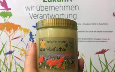 Landwirt und Imker gemeinsam: Honig von den Blühflächen!