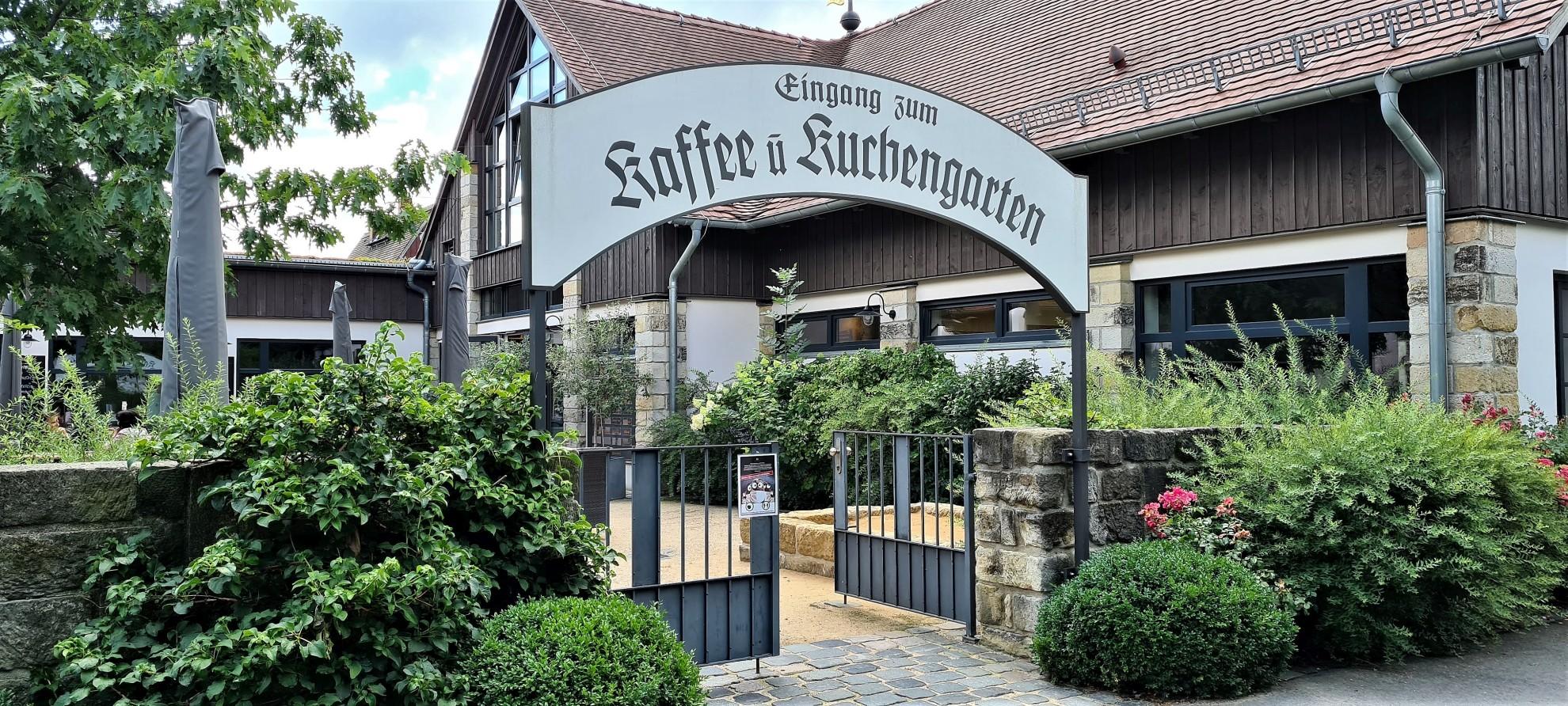 Die Backwirtschaft bei Schloss Pillnitz lädt zum Verweilen ein.
