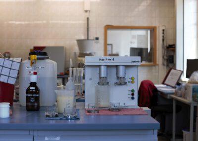 Das Labor der Dresdener Mühle.