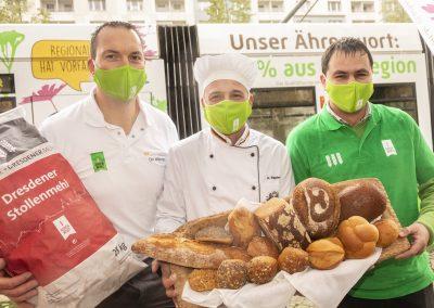 Bäcker, Landwirt, Mühle - zusammen für die Region.