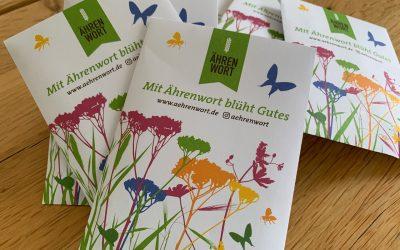 Unser Ostergeschenk: Ährenwort-Blumensamen bei eurem Ährenwort-Bäcker